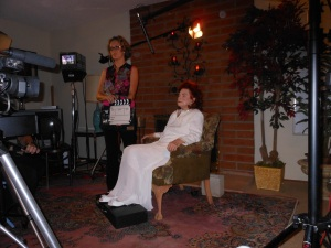 Verna Linzey films her new television series on the Holy Spirit